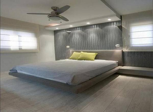 Modern Master Bedroom Floating Bed Style Creating