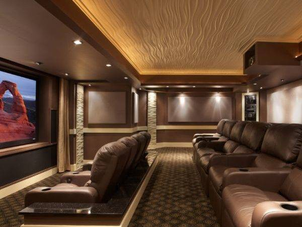 Modern Media Room Designs Blow Away