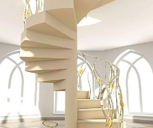Modern Minimalist Stairs Spiral Design