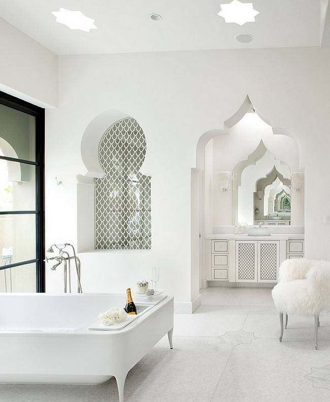 Modern Moroccan Inspired Bathrooms Promise Exotic Indulgence