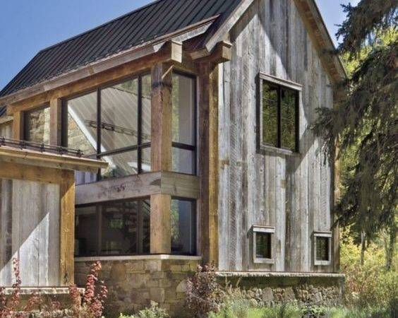 Modern Mountain Home Rustic Exterior Homes