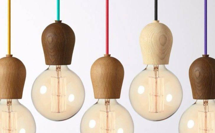 Modern Oak Wood Pendant Lights Vintage Cord Lamp Hanging Light