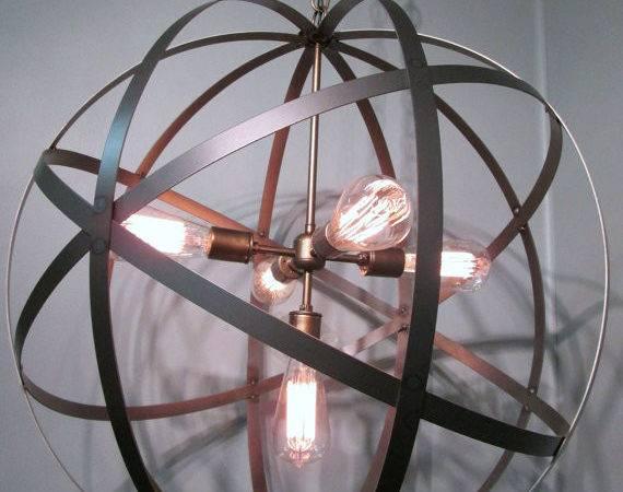 Modern Orb Ceiling Light Inch Sphere Wine Barrel Ring Chandelier