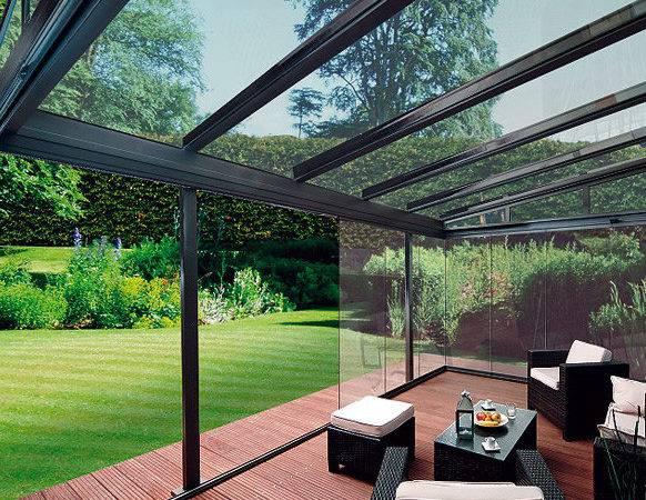 Modern Outdoor Glass Patio Rooms Design