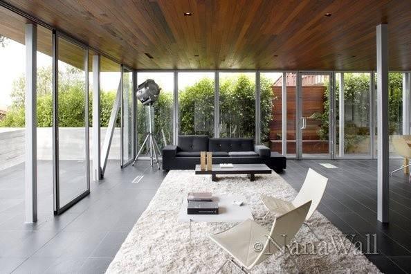 Modern Outdoor Room Nanawall Glass Patio Enclosures