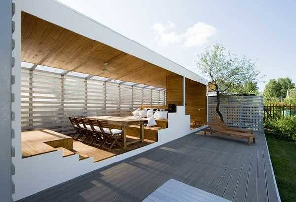 Modern Outdoor Rooms Wooden Dining Furnishings Lounge Chairs