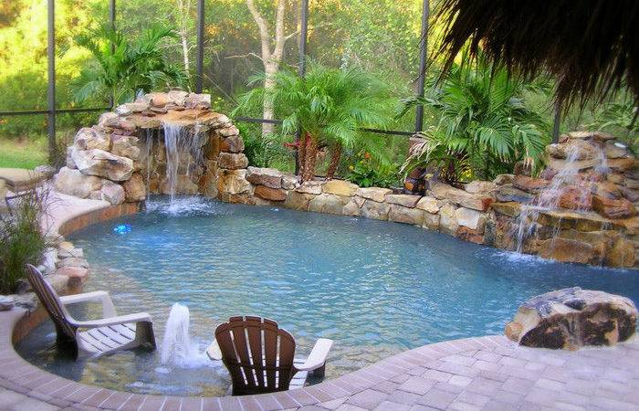 Modern Pool Landscaping Ideas Rocks Plants