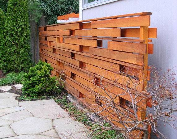 Modern Privacy Fences Clean Wood