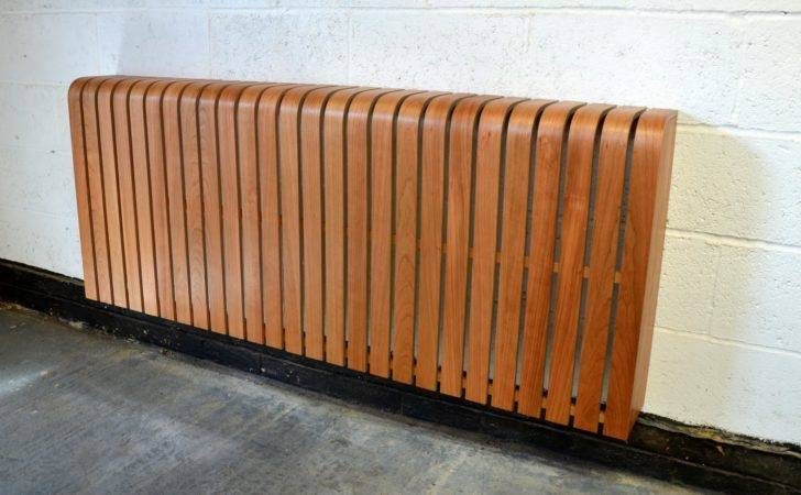 Modern Radiator Cover American Cherry Timber