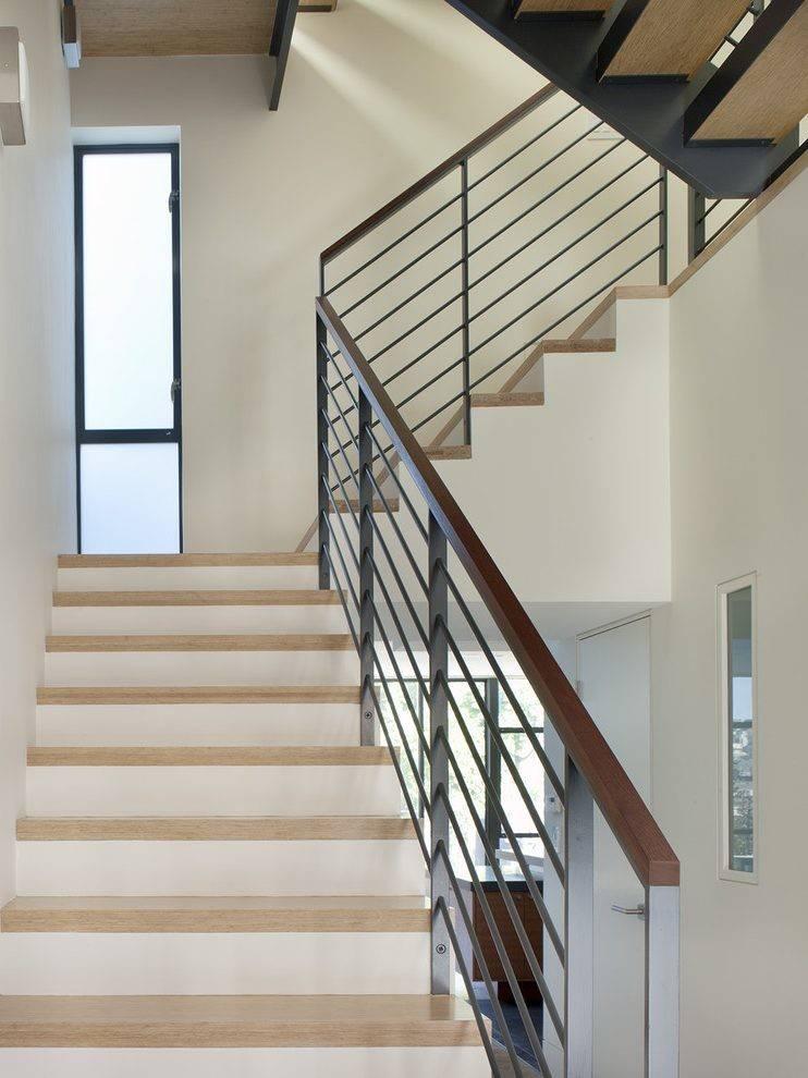 Modern Railing Design Balcony Staircase Wood Banister
