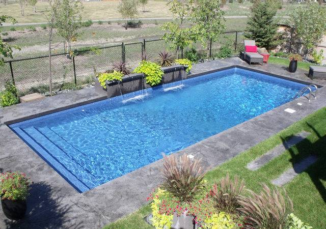 Modern Rectangle Pool Design Tropical Other Metro