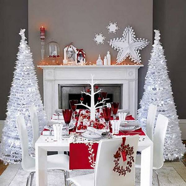 Modern Red White Christmas Tablescape Lovely Events