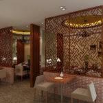 Modern Restaurant Partition Seat Interior Design