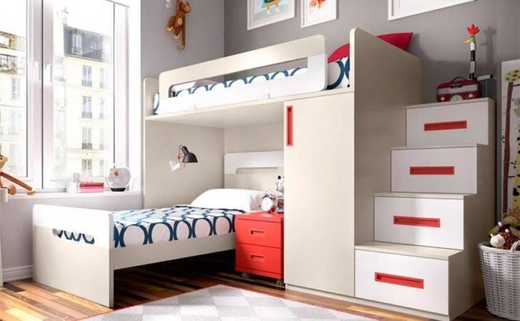 Modern Rimobel Bunk Bed Bedside Cabinet Wardrobe Steps