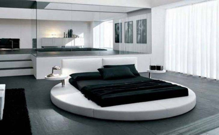 Modern Round Beds Unique Bed Large Mirror Make Combined
