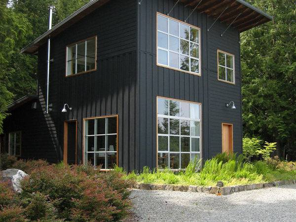 Modern Rustic Homes Black Exteriors Mountain Life
