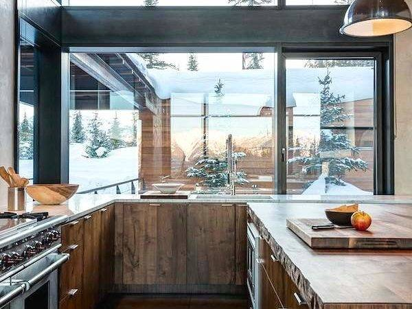 Modern Rustic Wood Cabin Vacation Home Interior Design