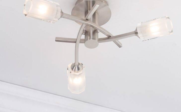 Modern Semi Flush Ceiling Light Art Deco Bathroom Lighting Corner
