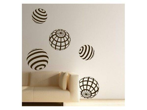 Modern Sphere Decals Stickers High Style Wall
