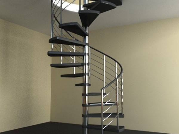 Modern Spiral Staircase Model