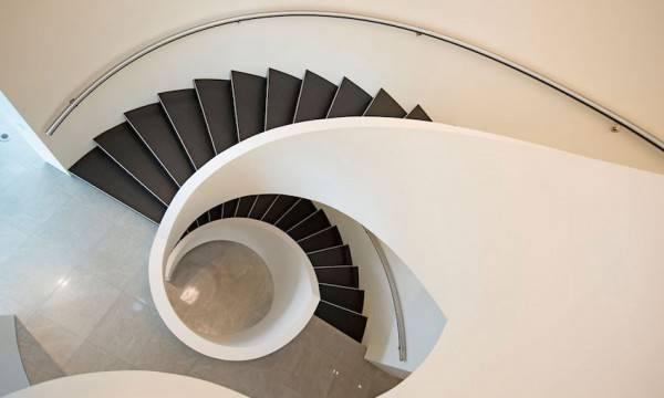 Modern Spiral Stairs Interior Design Ideas