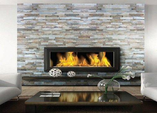 Modern Stone Fireplace Beautiful Contemporary Living Room Dry