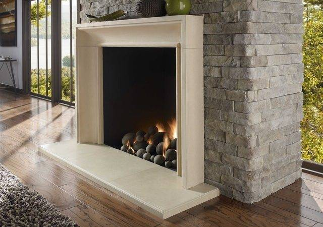 Modern Stone Fireplace Surround Contemporary Fireplaces