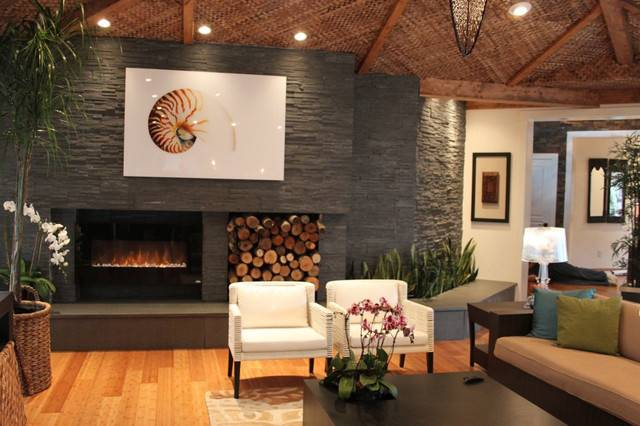Modern Stone Fireplaces Contemporary Natural Fireplace