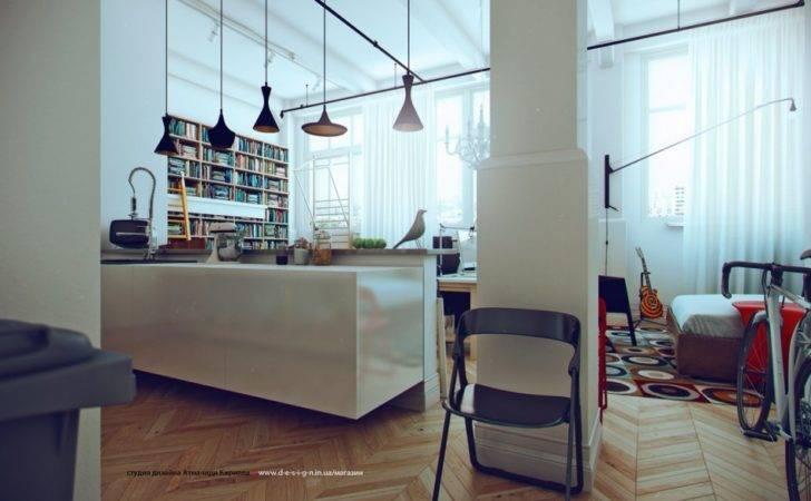 Modern Studio Apartment White Spacious Ideas
