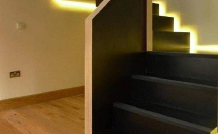 Modern Style Black Color Diy Staircase Design Glowing