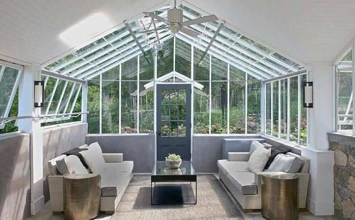 Modern Sunroom Vaulted Glass Ceiling