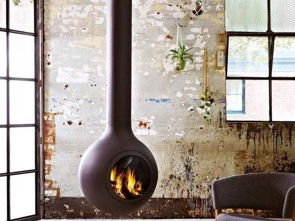 Modern Suspended Fireplaces Bathyscafocus Hublot Fireplace