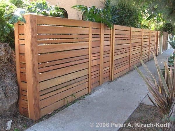 Modern Twist Fence