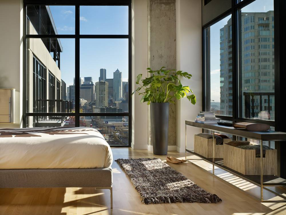 Modern Urban Green Loft Design Mosler Lofts Digsdigs