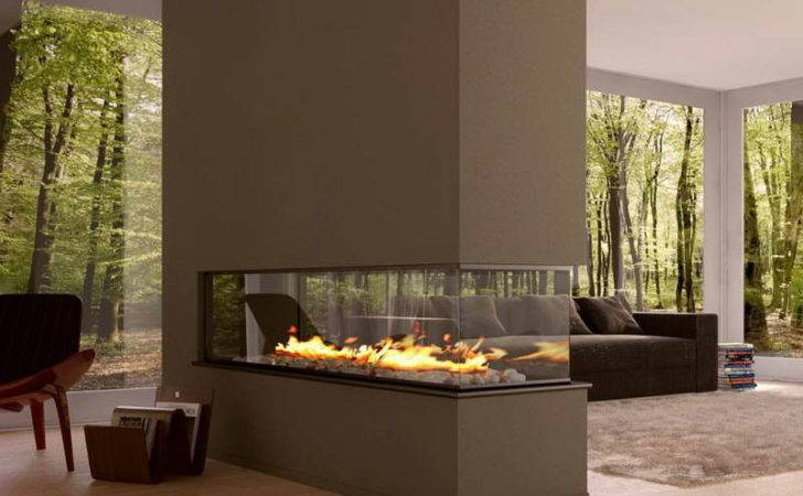 Modern Ventless Gas Fireplaces Glass Walls