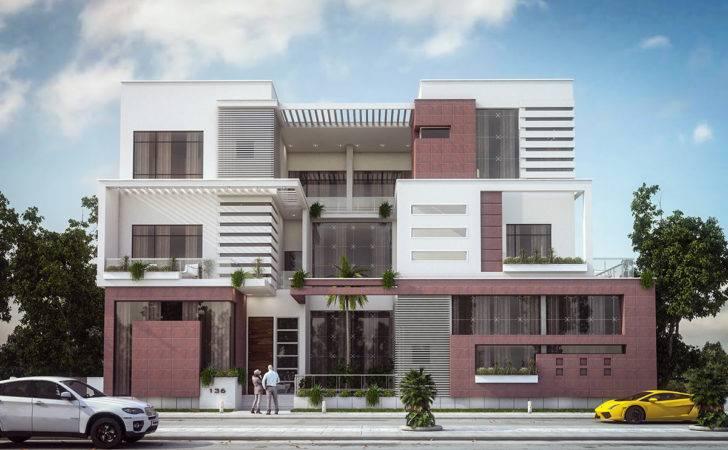 Modern Villa Elevation Design Kuwait Behance