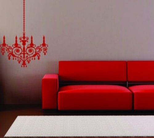 Modern Vinyl Chandelier Removable Wall Decals Stickers Art Graphics
