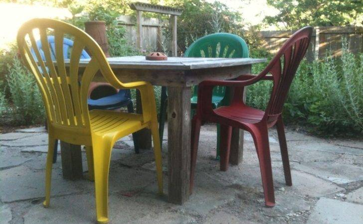 Modern Vinyl Patio Furniture Painting Plastic Chairs Randy