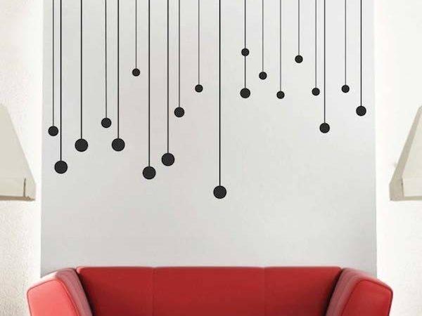 Modern Wall Decals Round Drops Vinyl