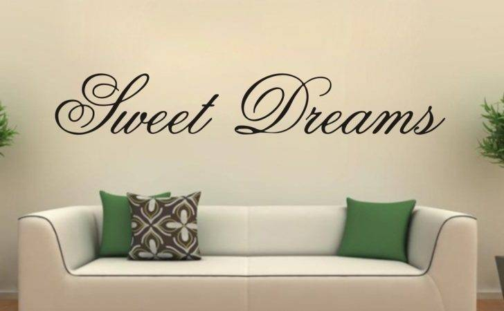 Modern Wall Sticker Sweet Dreams Vinyl Art Mural Quote Saying
