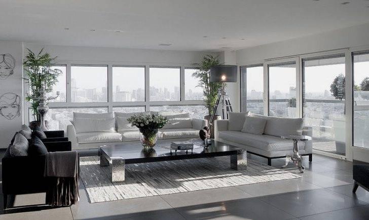 Modern White Gray Apartment Interior Design Lanciano