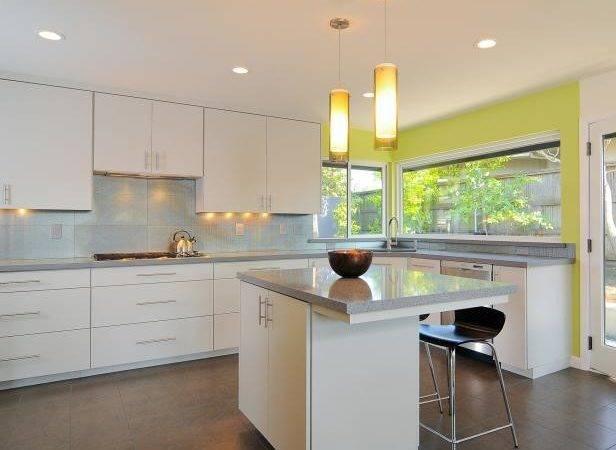 Modern White Kitchen Cabinets Sleek