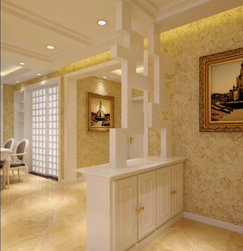 Modern White Partition Design Rendering House