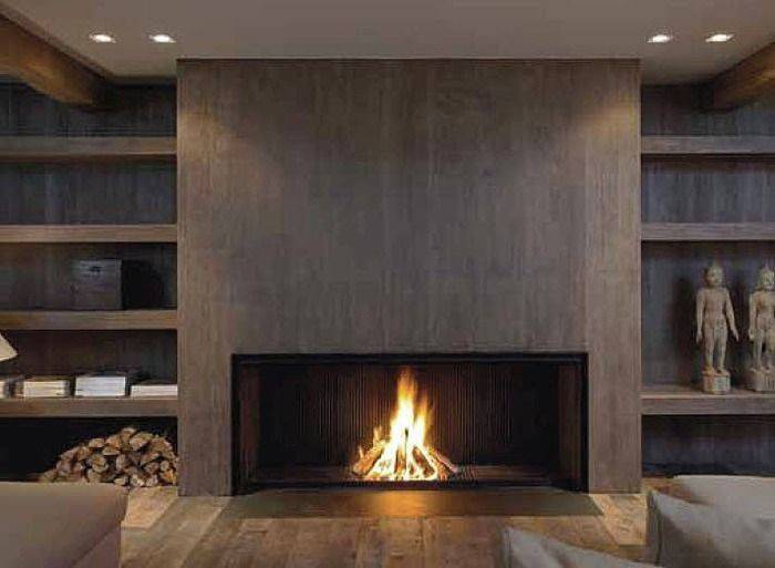 Modern Wood Fireplace Surrounds