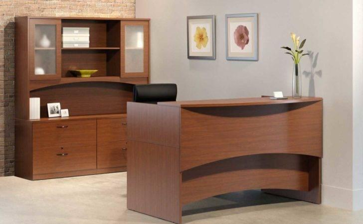 Modern Wood Reception Desk Desks