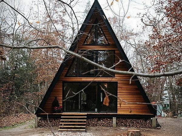 Modern Wooden Cabin Fascinating Frame House