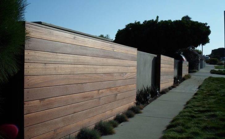 Modern Wooden Fence Ideas Pinterest