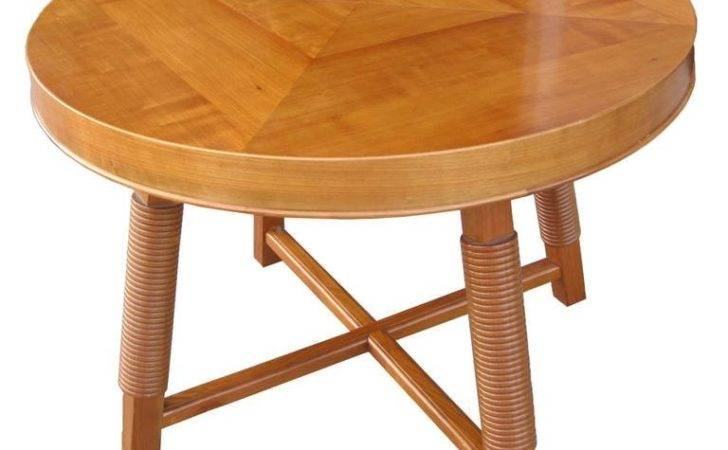 Moderne Round Extension Table Victor Courtray Sale Stdibs