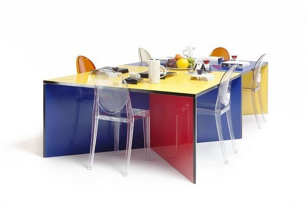 Modular Colorful Dining Table