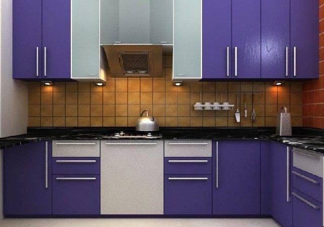 Modular Kitchen Cabinet Design Green